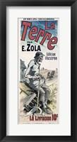 Framed Poster advertising 'La Terre', 1889