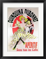 Framed Poster advertising 'Quinquina Dubonnet' aperitif, 1895