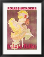 Framed Poster advertising Loie Fuller