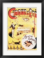 Framed Poster advertising the Cirque d'Ete in the Champs Elysees