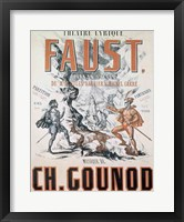 Framed Poster advertising 'Faust', Opera