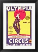Framed Bertram Mills circus poster, 1922