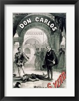 Framed Poster advertising 'Don Carlos'