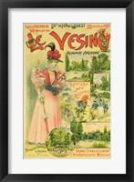 Framed Poster for the Chemins de Fer de l'Ouest to Le Vesinet