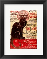 Framed Poster advertising an exhibition of the 'Collection du Chat Noir' Cabaret