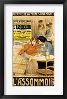 Framed Poster advertising 'L'Assommoir'