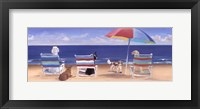 Framed Beach Chair Tails I
