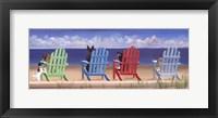 Framed Rainbow Chair Tails