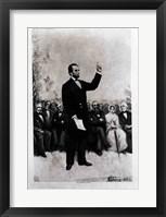 Framed Lincoln's Address at Gettysburg, 1895