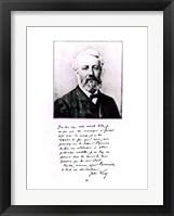 Framed Portrait of Jules Verne