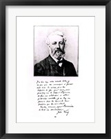Framed Portrait of Jules Verne