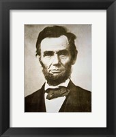 Framed Abraham Lincoln - black and white