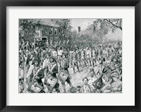 Framed Continental Army Marching Down the Old Bowery, New York, 25th November 1783