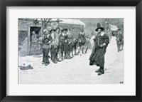 Framed Puritan Governor Interrupting the Christmas Sports