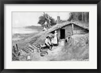 Framed Pennsylvania Cave-Dwelling, illustration from 'Colonies and Nation'