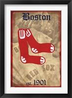 Framed Red Sox - Retro Logo 11