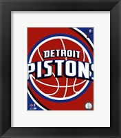 Framed Detroit Pistons Team Logo