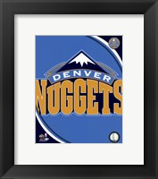 Framed Denver Nuggets Team Logo