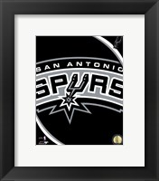 Framed San Antonio Spurs Team Logo