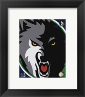 Framed Minnesota Timberwolves Team Logo