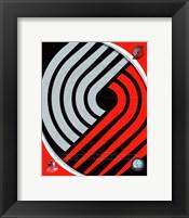 Framed Portland Trail Blazers Team Logo