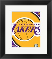 Framed Los Angeles Lakers Team Logos