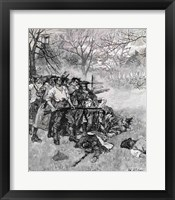 Framed Lexington Green - 'If they want war, it may as well begin here'