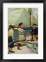 Framed American Privateer Taking a British Prize