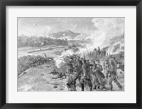 Framed Battle of Resaca, Georgia, May 14th 1864
