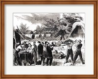 Framed Carrying off the Wounded after the battle of Antietam in 1862