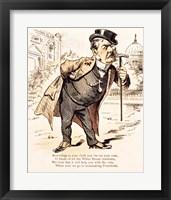 Framed Caricature of Chester Alan Arthur, c.1883