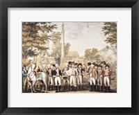 Framed British Surrendering to General Washington after their Defeat at Yorktown