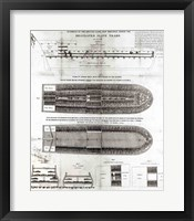 Framed Stowage of the British Slave Ship 'Brookes' Under the Regulated Slave Trade Act of 1788