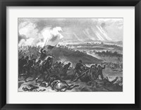 Framed Battle of Gettysburg - Final Charge of the Union Forces at Cemetery Hill, 1863