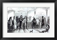 Framed Bar of a Gambling Saloon