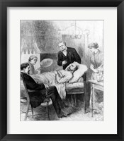 Framed President Garfield Lying Wounded in his Room at the White House, Washingto