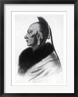 Framed Le Soldat du Chene, an Osage Chief