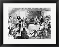 Framed Sitting Bull Council, 1877