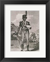 Framed Portrait of Francois Dominique Toussaint-Louverture