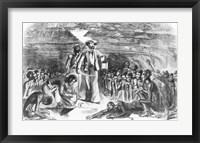 Framed Scene in the Hold of the Slave Ship