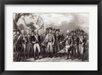 Framed British Surrendering their Arms to General Washington