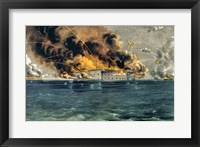 Framed Bombardment of Fort Sumter