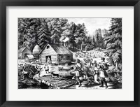 Framed Pioneer's Home on the Western Frontier