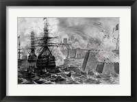 Framed Victorious Bombardment of Vera Cruz by the United Forces of the Army and Navy of the US