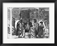 Framed Indians Trading at a Frontier Town