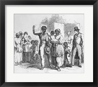 Framed Slave Father Sold Away from his Family