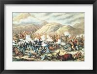 Framed Battle of Little Big Horn, June 25th 1876