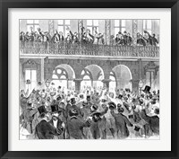 Framed Secession Meeting in Front of the Mills House