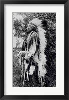 Framed White Wolf, a Comanche Chief