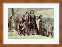 Framed Landing of the Pilgrims at Plymouth, Massachusetts, December 22nd 1620